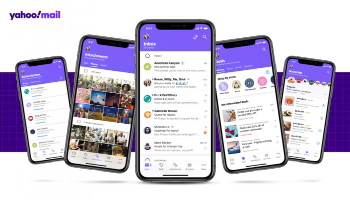 Yahoo Mail app on smartphones