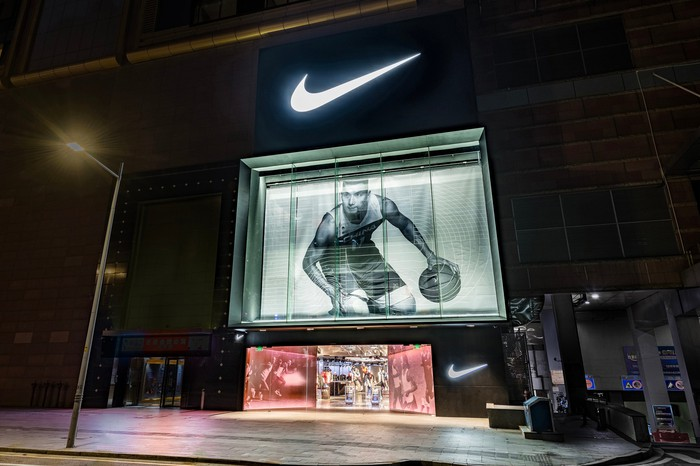 New Nike Rise store in China.