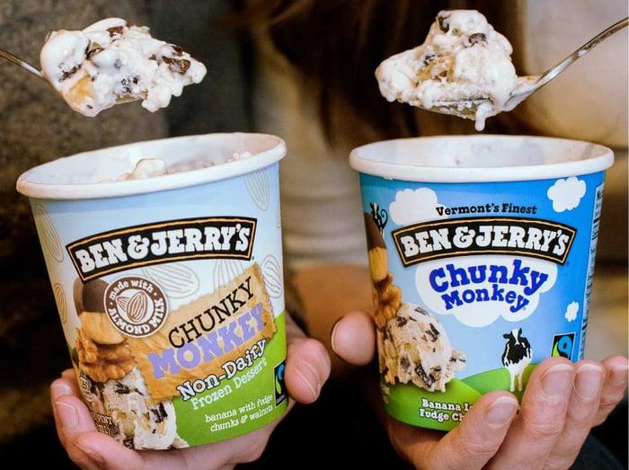 Two pints of Ben & Jerry's ice cream
