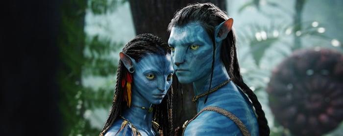 A still from the 2009 film Avatar.