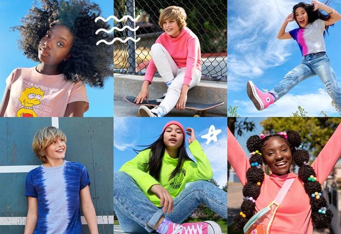 Kids in self-designed fashion