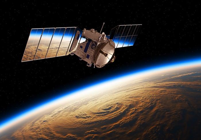 Satellite over Earth