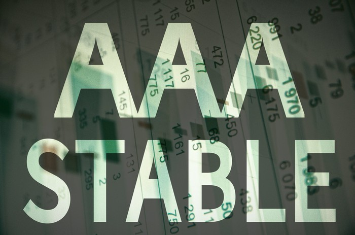 The words AAA Stable superimposed over a financial document
