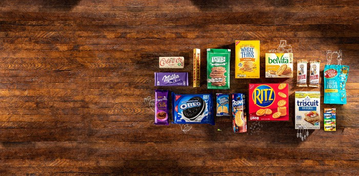 A selection of Mondelez products.