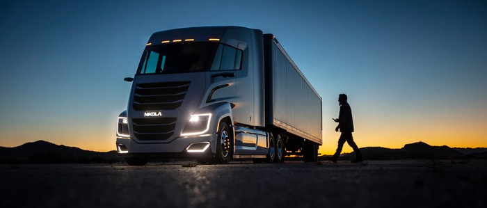 Illustration of the Nikola Two truck.