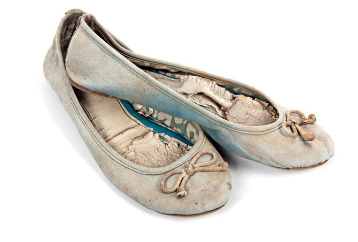 Pair of old, worn out shoes
