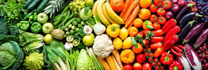 A plethora of fruits and vegetables.
