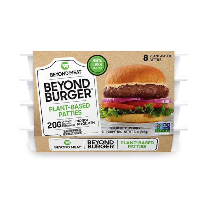 Beyond Meat 8-pack burger product