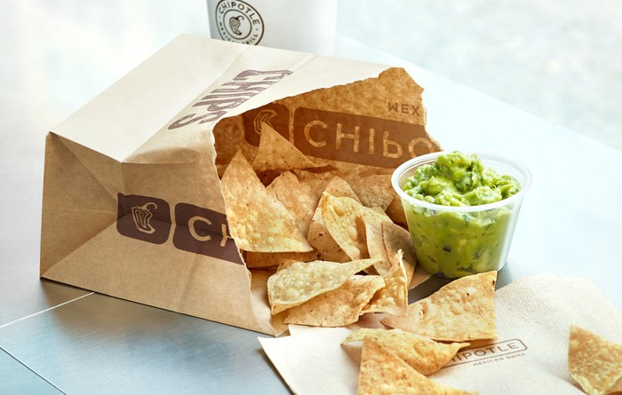 Chipotle Mexican Grill chips and guacamole.