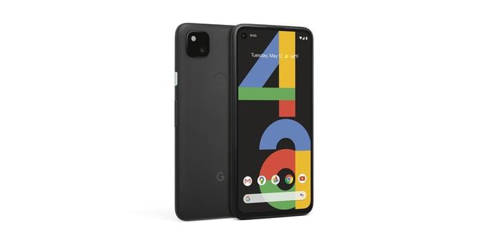 Pixel 4a smartphone in black