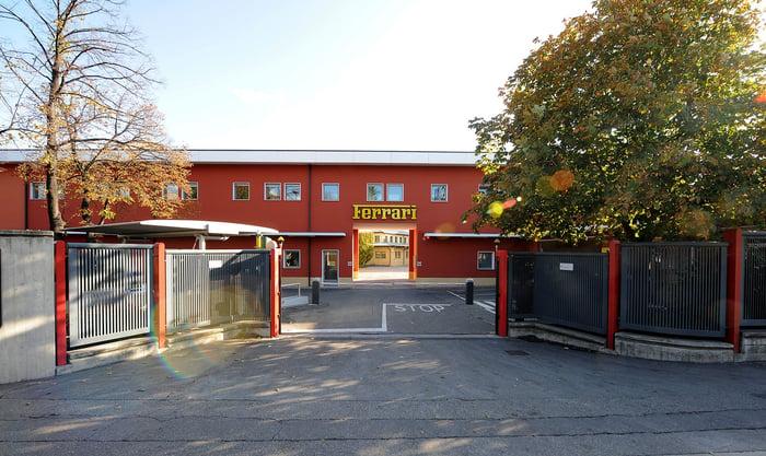 Entrance to a Ferrari plant