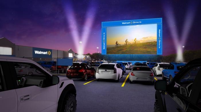 Artist rendering of Walmart drive-in theater