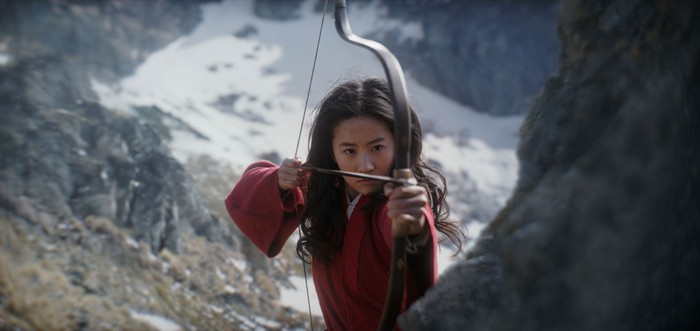 A still from the live-action film Mulan.