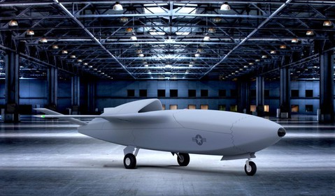 Artist's depiction of a Skyborg Vanguard unmanned combat aerial vehicle IS US Air Force Research Laboratory