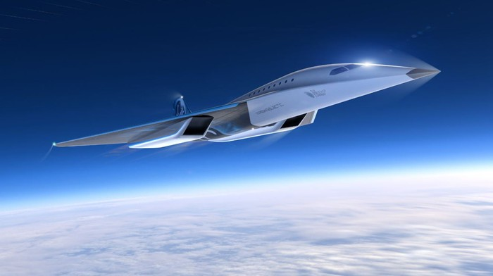 A rendering of Virgin Galactic's proposed Mach 3 supersonic jet