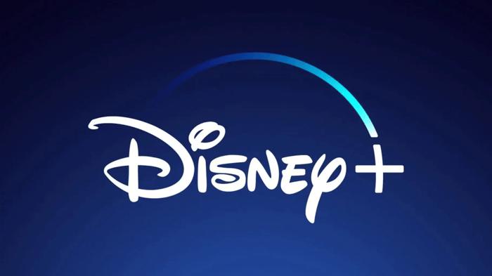 The Disney+ logo on a blue background