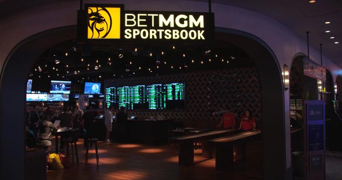 MGM Resorts' BetMGM Sportsbook room