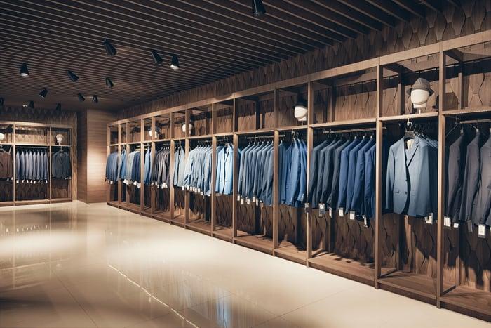 Business suit retail.
