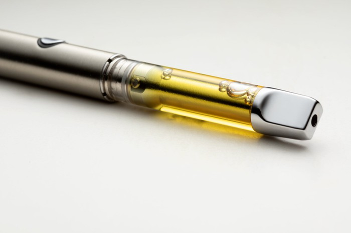 Cannabis e-cigarette.