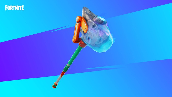 Rendering of an axe-like item found in the Fortnite video game.