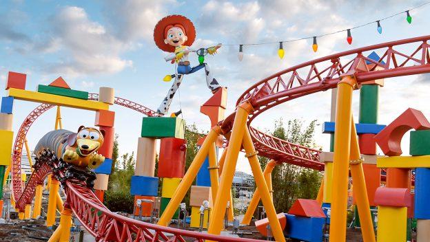 Slinky Dog roller coaster at Disney's Hollywood Studios.
