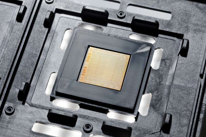 An IBM POWER10 chip.