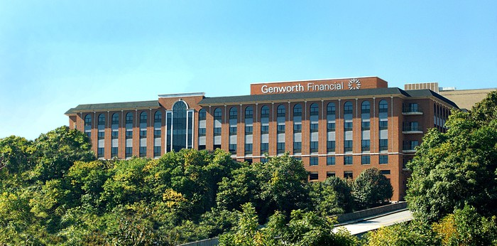 Genworth Financial office building surrounded by trees
