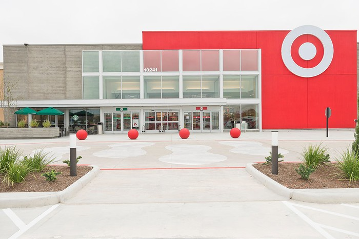 The exterior of a Target store