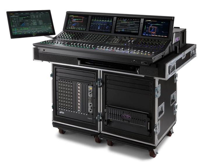 The Avid VENUE digital  mixer equipment