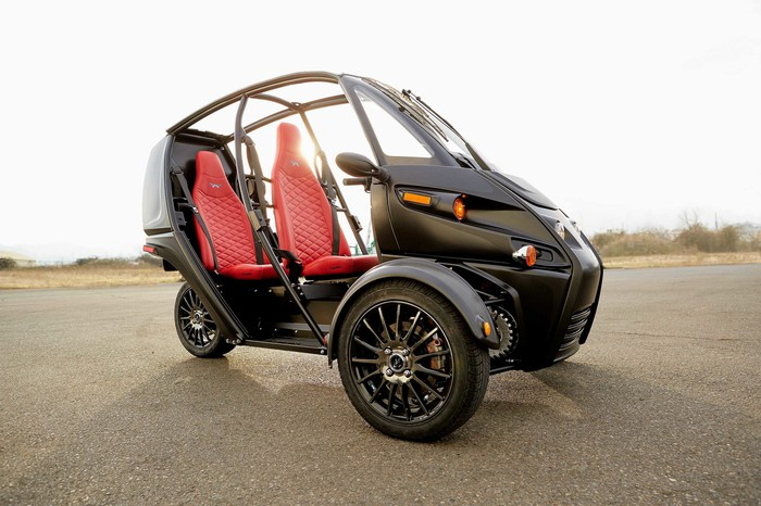 Arcimoto's three-wheeled Fun Utility Vehicle