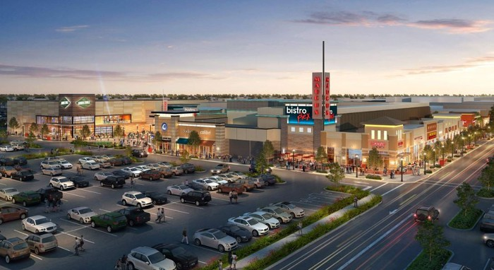 A rendering of a redeveloped section of a CBL mall