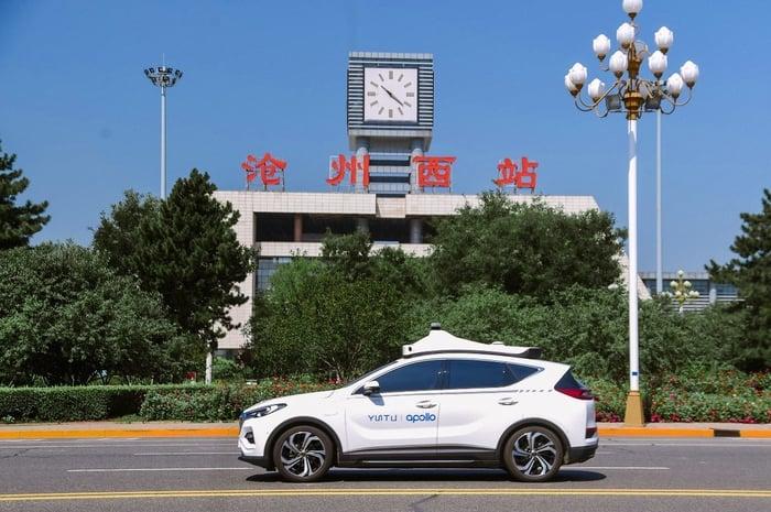 A Baidu self-driving car.