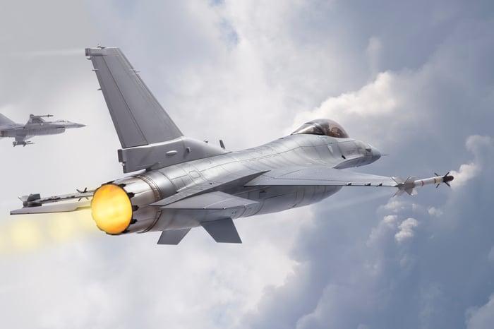 F-16s in flight