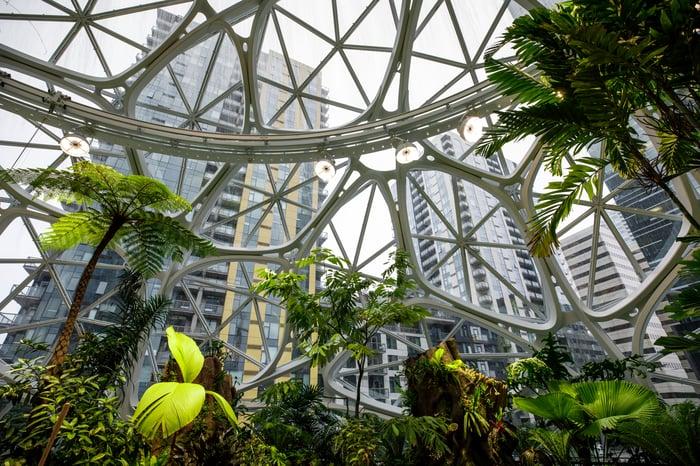 Sphere at Amazon headquarters.