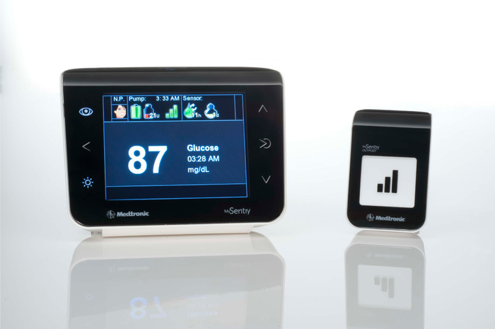 A Medtronic glucose monitor