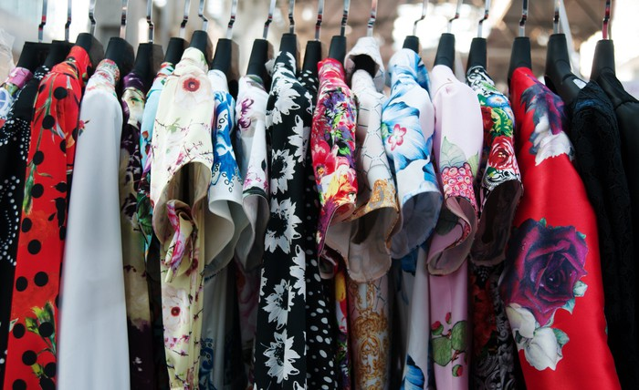 rack of high-end fashion