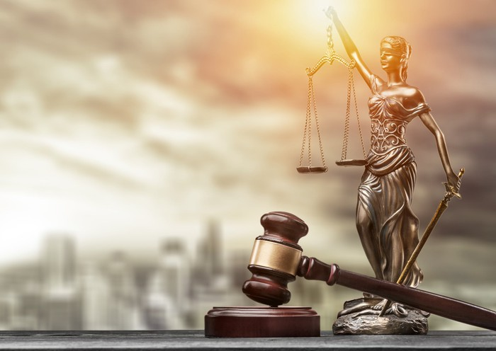 Scales of Justice and a judge's gavel
