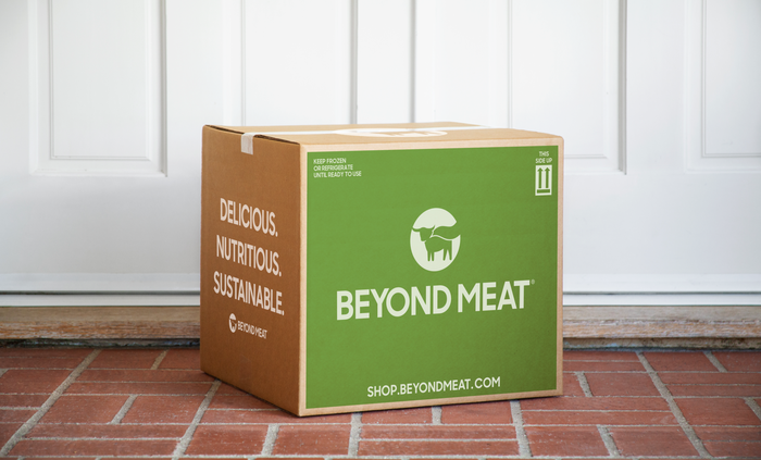 Beyond Meat's new direct-to-consumer shipping box.