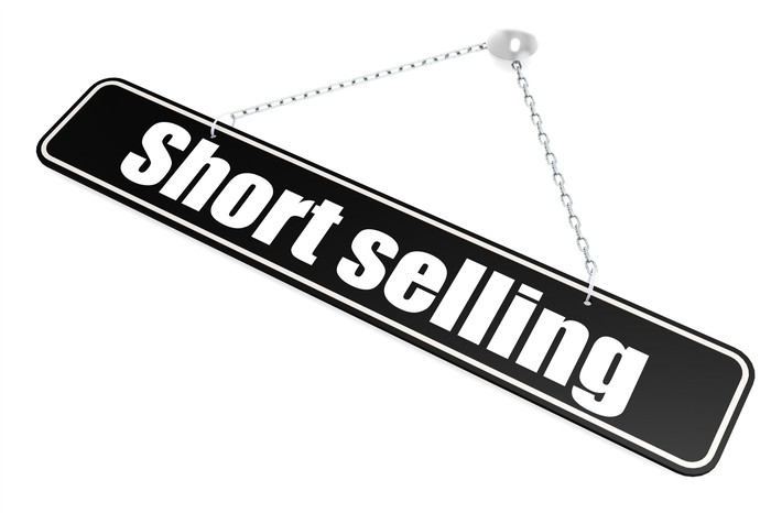 Short-selling sign.