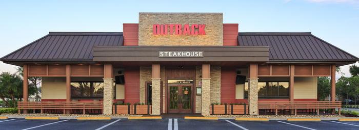 An Outback Steakhouse restaurant.