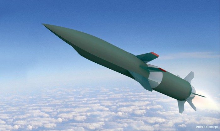 Artist rendering of Hypersonic Air-breathing Weapon Concept missile.