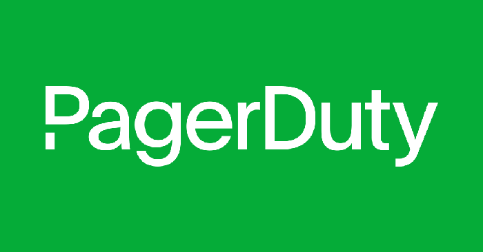 The Pagerduty logo on a green background