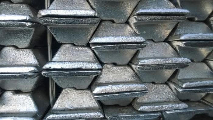 Aluminum ingots.