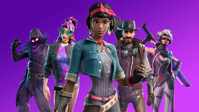 A group of Fortnite characters.