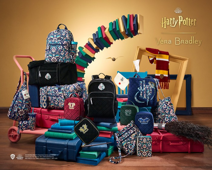 """An advertisement for Vera Bradley's """"Harry Potter"""" collection."""