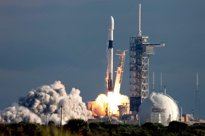 Falcon 9 rocket launch.