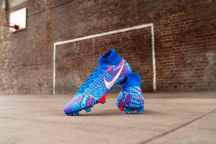 Nike Sancho sneakers.