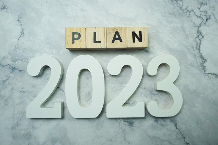 Block letters read PLAN 2023