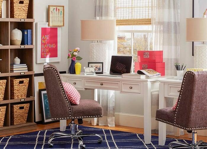 A home office setup from Wayfair