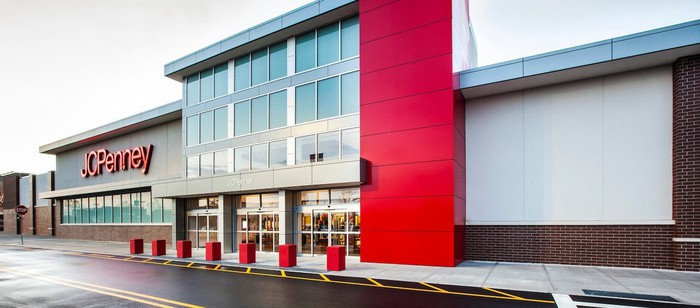 The exterior of a JCPenney store.